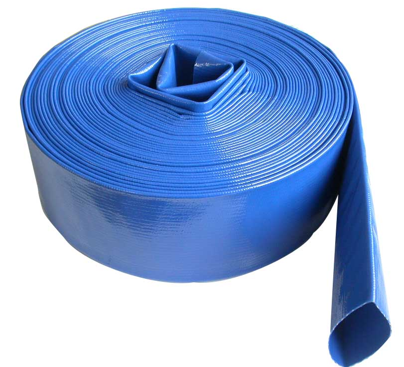 pvc hose layflat discharge water hose blue china